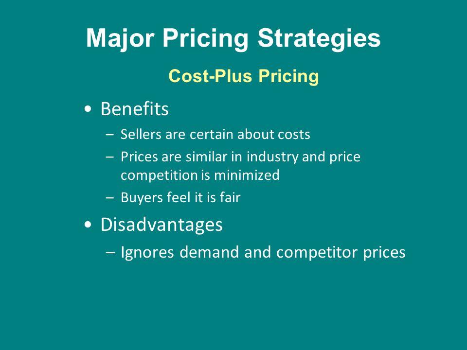 Major Pricing Strategies