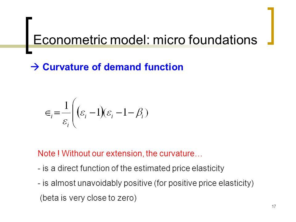 Econometric model: micro foundations
