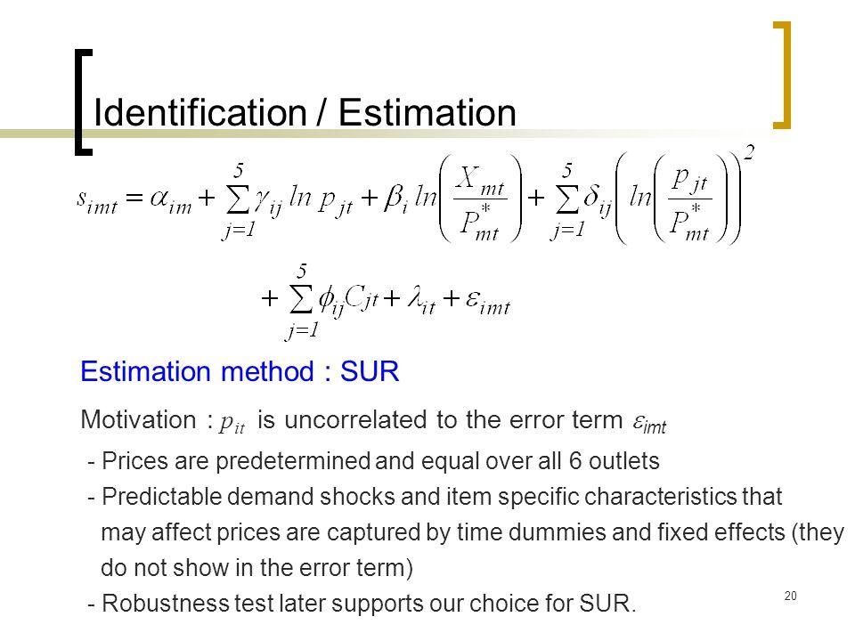 Identification / Estimation