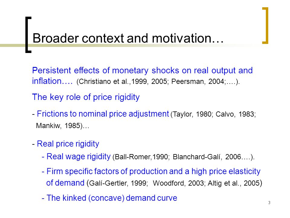 Broader context and motivation…
