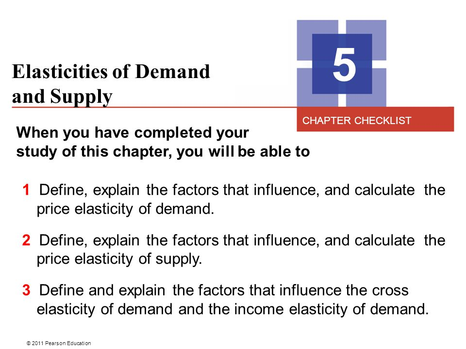 5 Elasticities of Demand and Supply