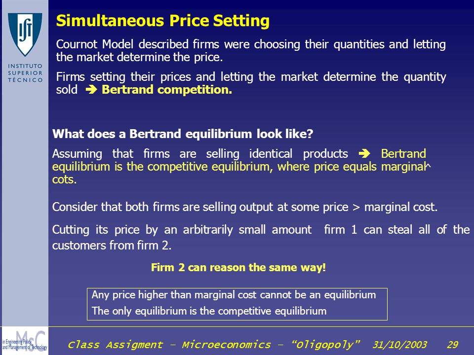 Simultaneous Price Setting