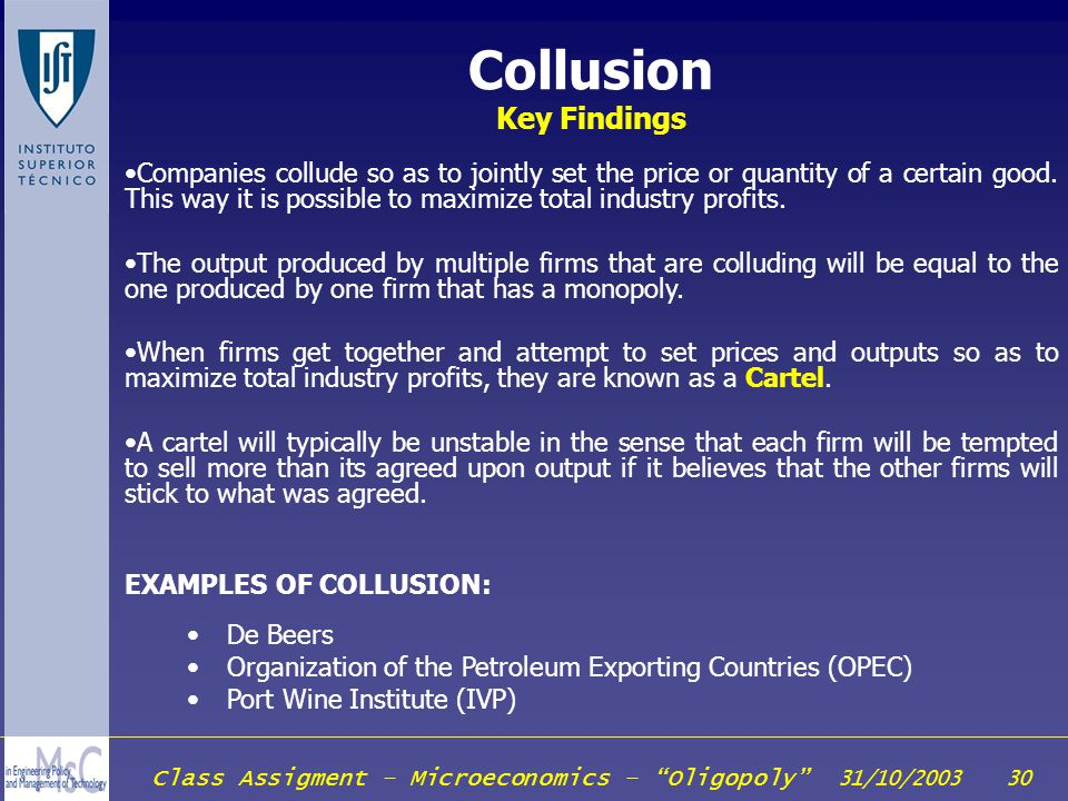 Collusion Key Findings
