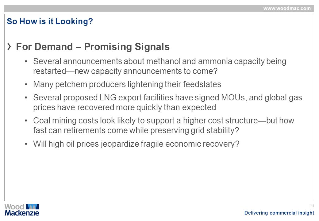 For Demand – Promising Signals