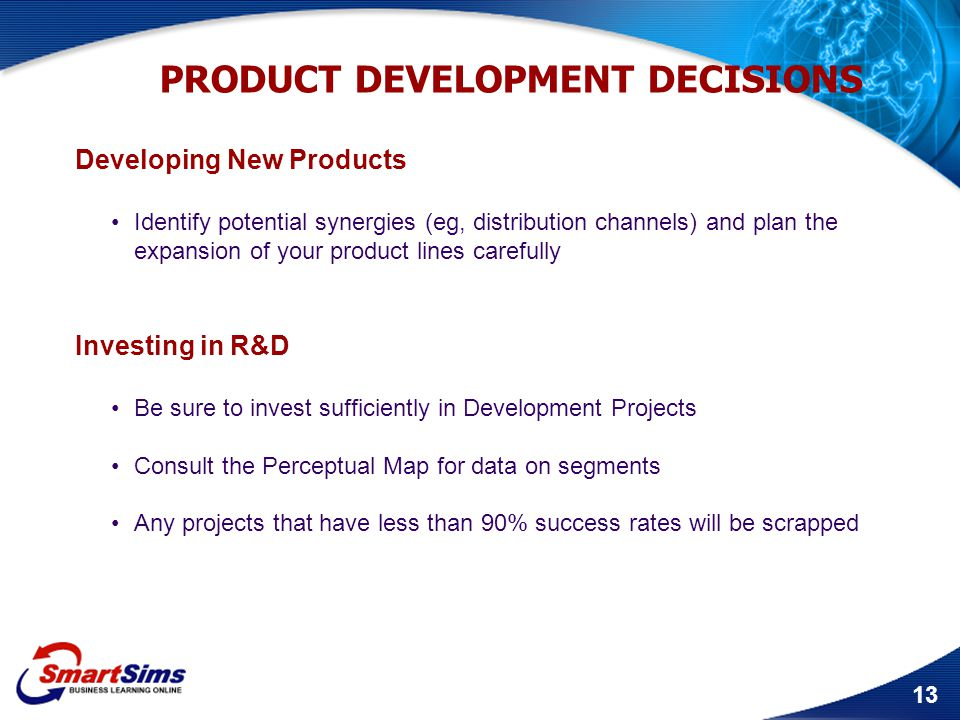 PRODUCT DEVELOPMENT DECISIONS