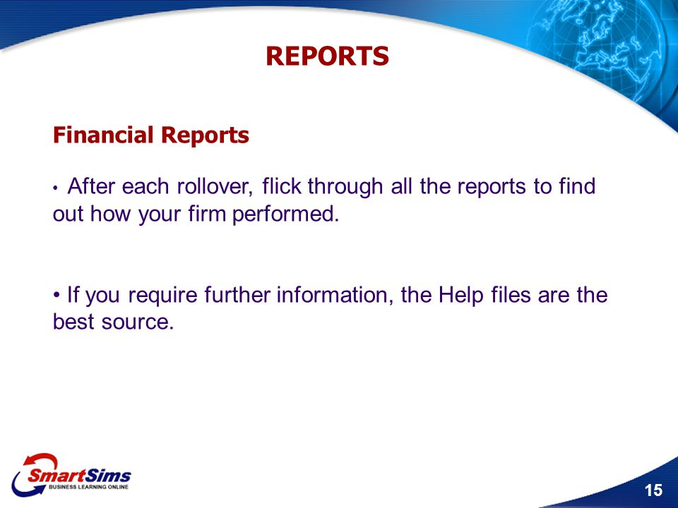 REPORTS Financial Reports