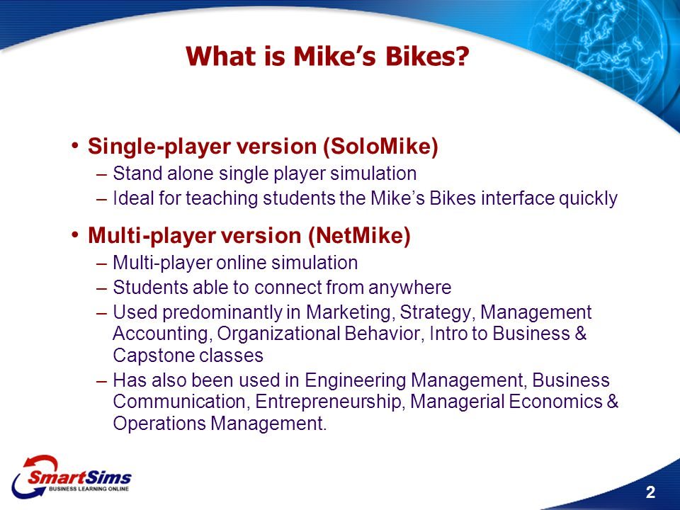 What is Mike's Bikes Single-player version (SoloMike)