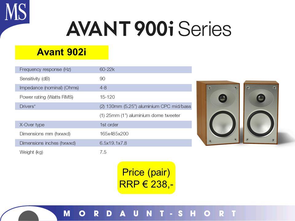 Avant 902i Price (pair) RRP € 238,-