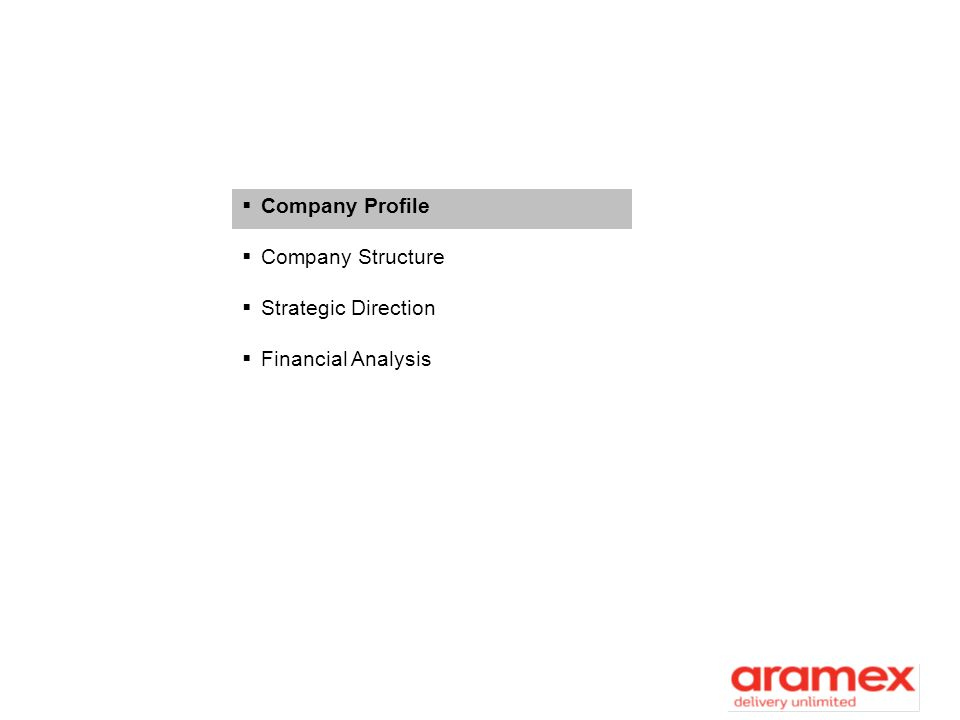 Company Profile Company Structure Strategic Direction
