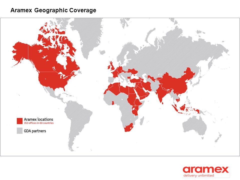 Aramex Geographic Coverage