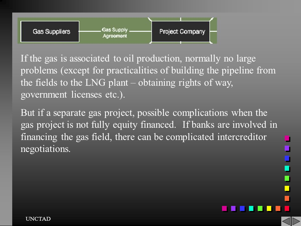 If the gas is associated to oil production, normally no large problems (except for practicalities of building the pipeline from the fields to the LNG plant – obtaining rights of way, government licenses etc.).