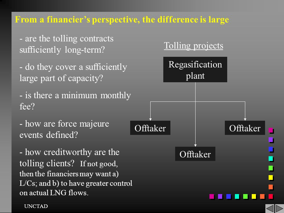 From a financier's perspective, the difference is large