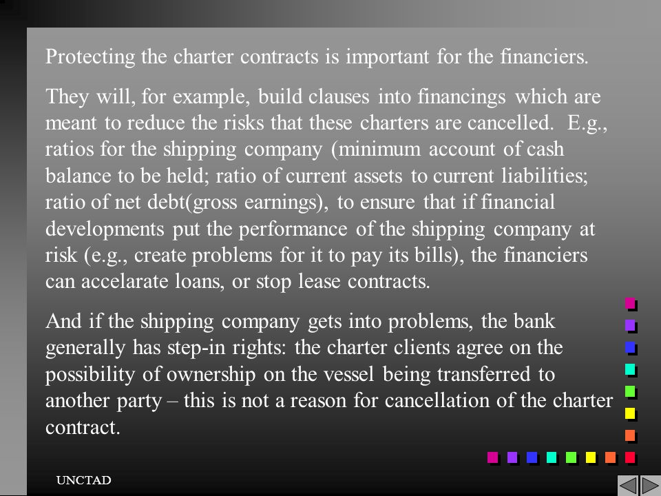 Protecting the charter contracts is important for the financiers.