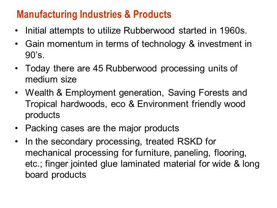 Manufacturing Industries & Products