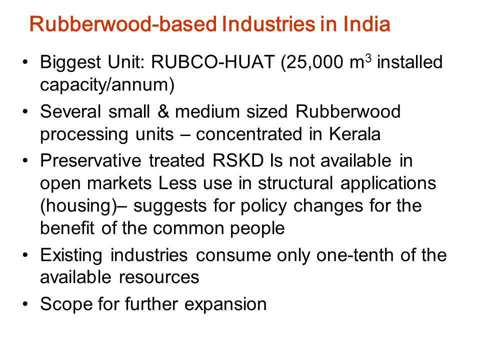 Rubberwood-based Industries in India