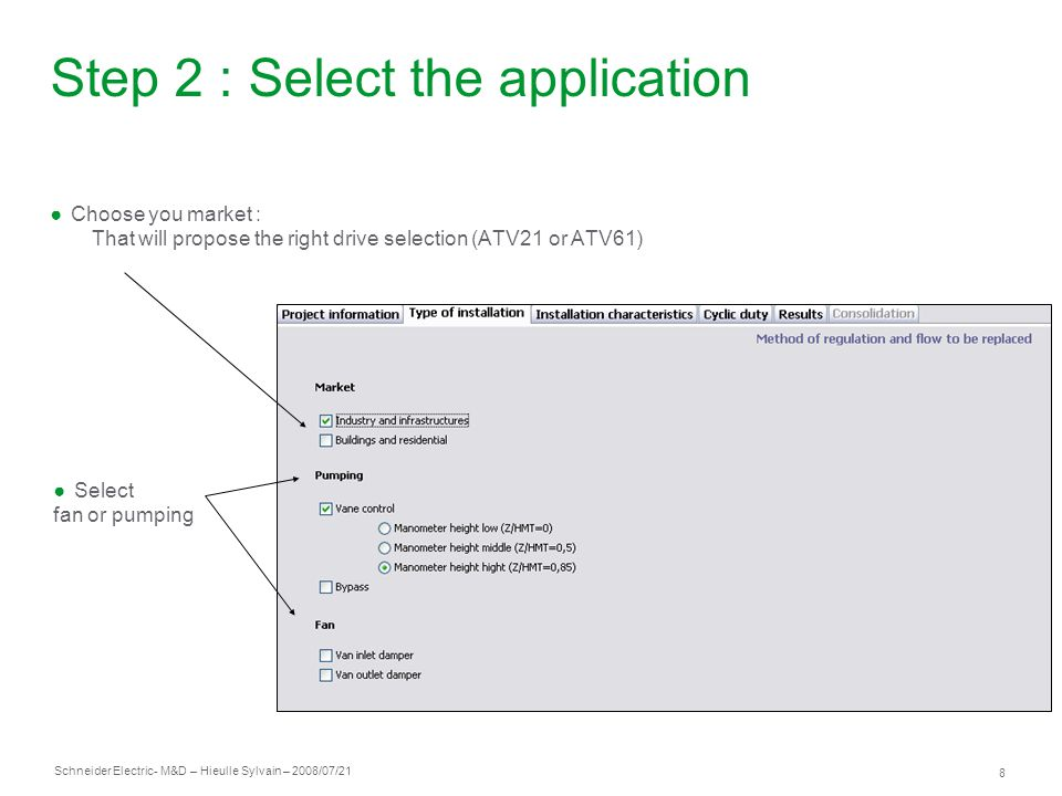 Step 2 : Select the application