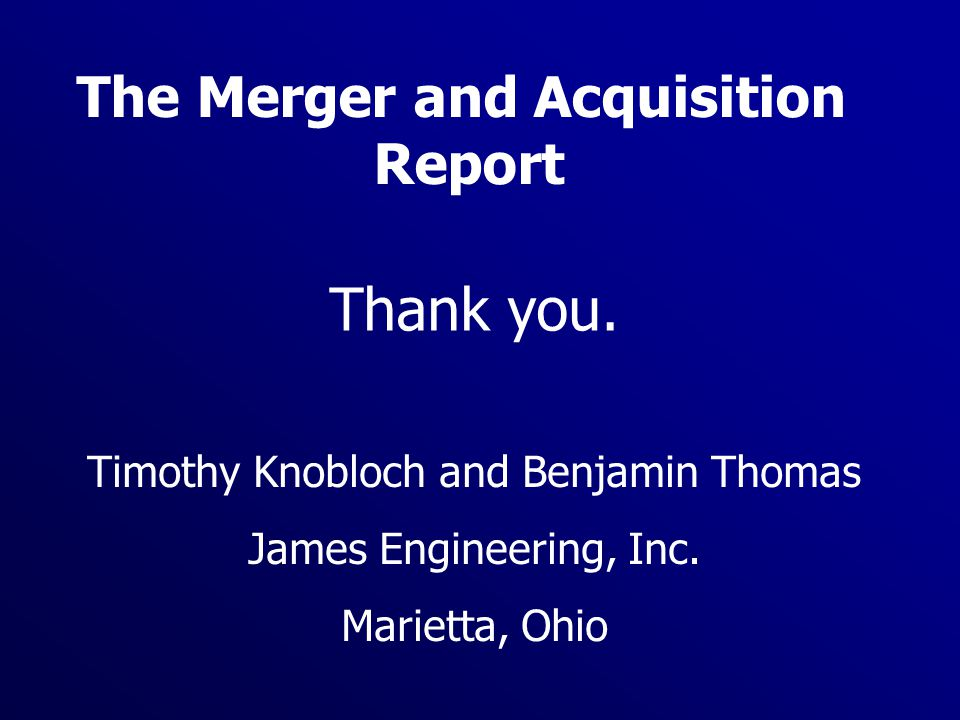 The Merger and Acquisition