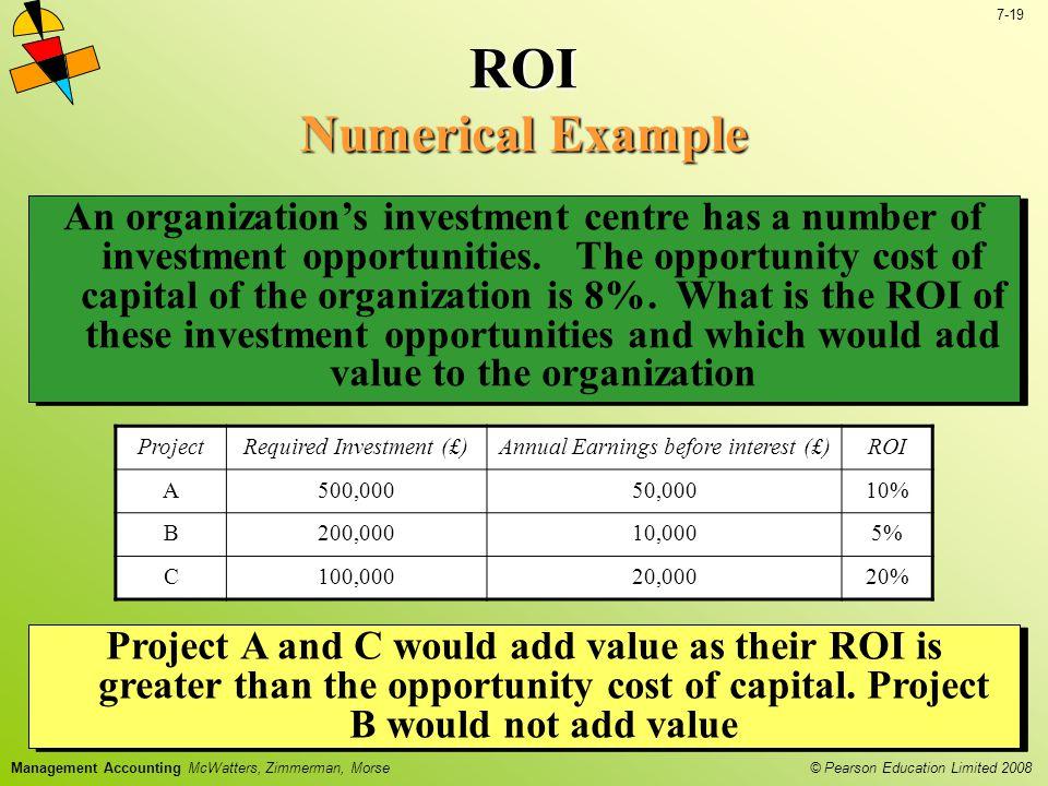 ROI Numerical Example