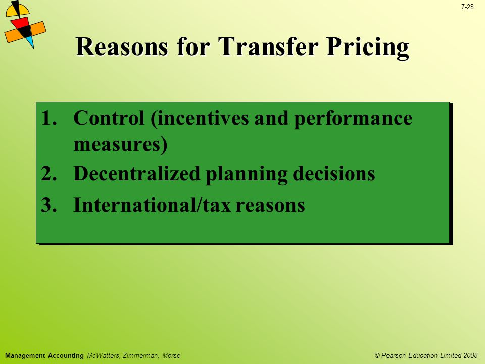 Reasons for Transfer Pricing