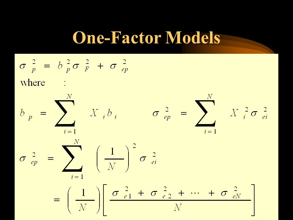 One-Factor Models