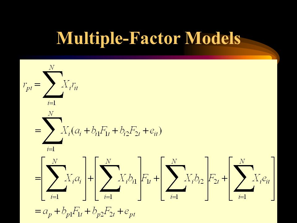 Multiple-Factor Models