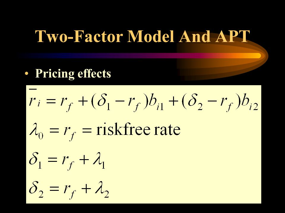 Two-Factor Model And APT