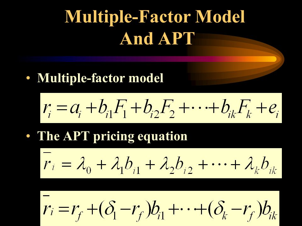 Multiple-Factor Model And APT