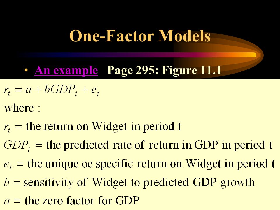 One-Factor Models An example Page 295: Figure 11.1