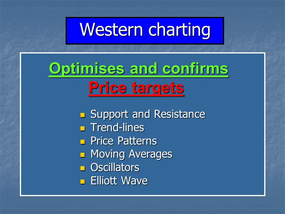 Western charting Optimises and confirms Price targets