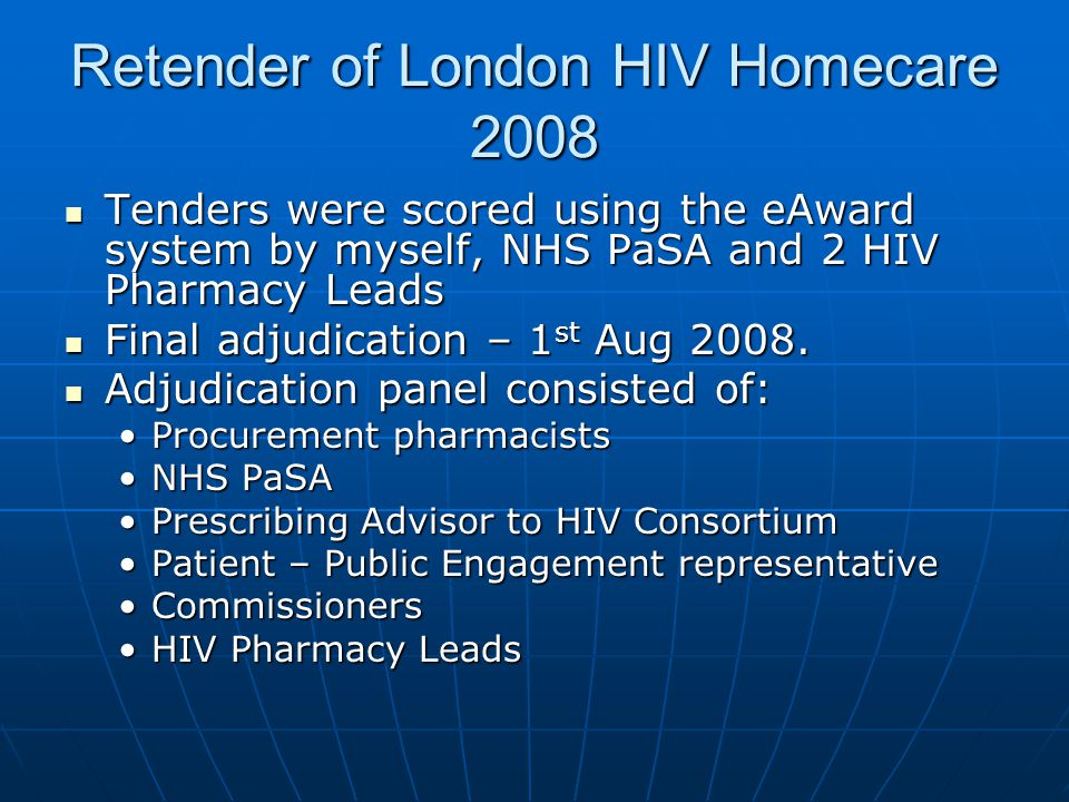 Retender of London HIV Homecare 2008