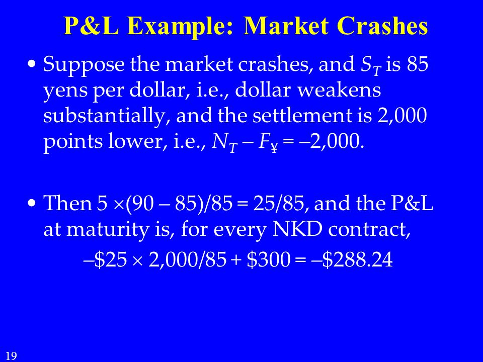 P&L Example: Market Crashes