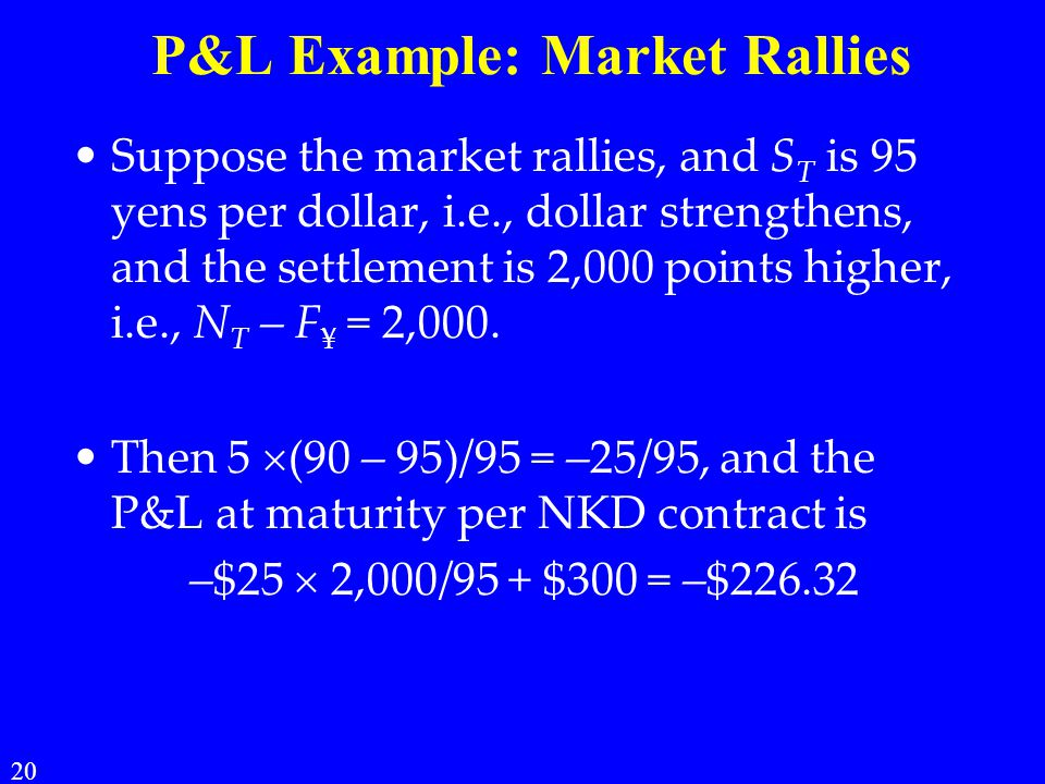 P&L Example: Market Rallies