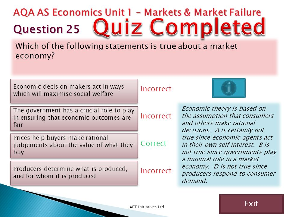 Quiz Completed Question 25