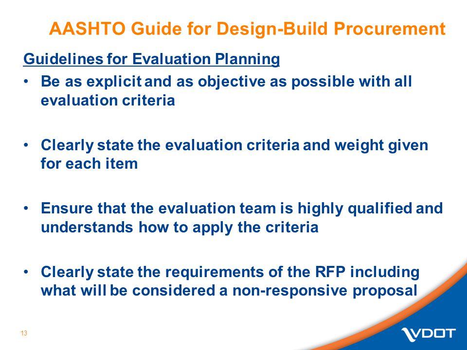 AASHTO Guide for Design-Build Procurement