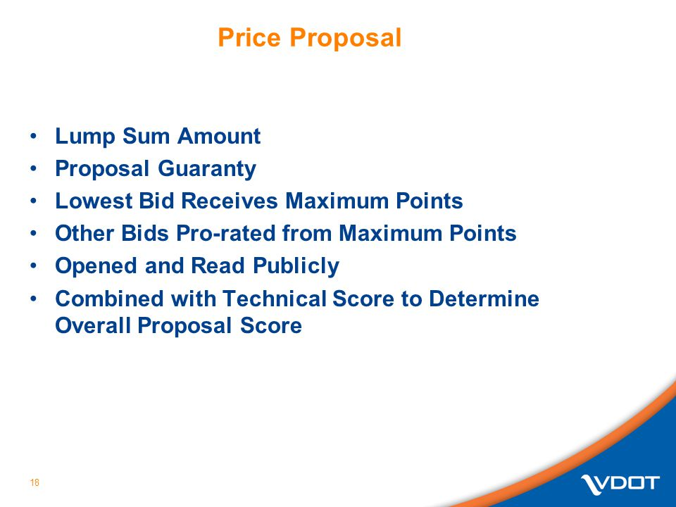 Price Proposal Lump Sum Amount Proposal Guaranty