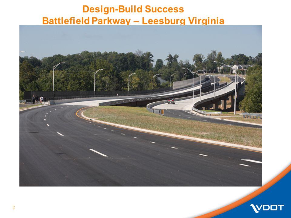 Design-Build Success Battlefield Parkway – Leesburg Virginia