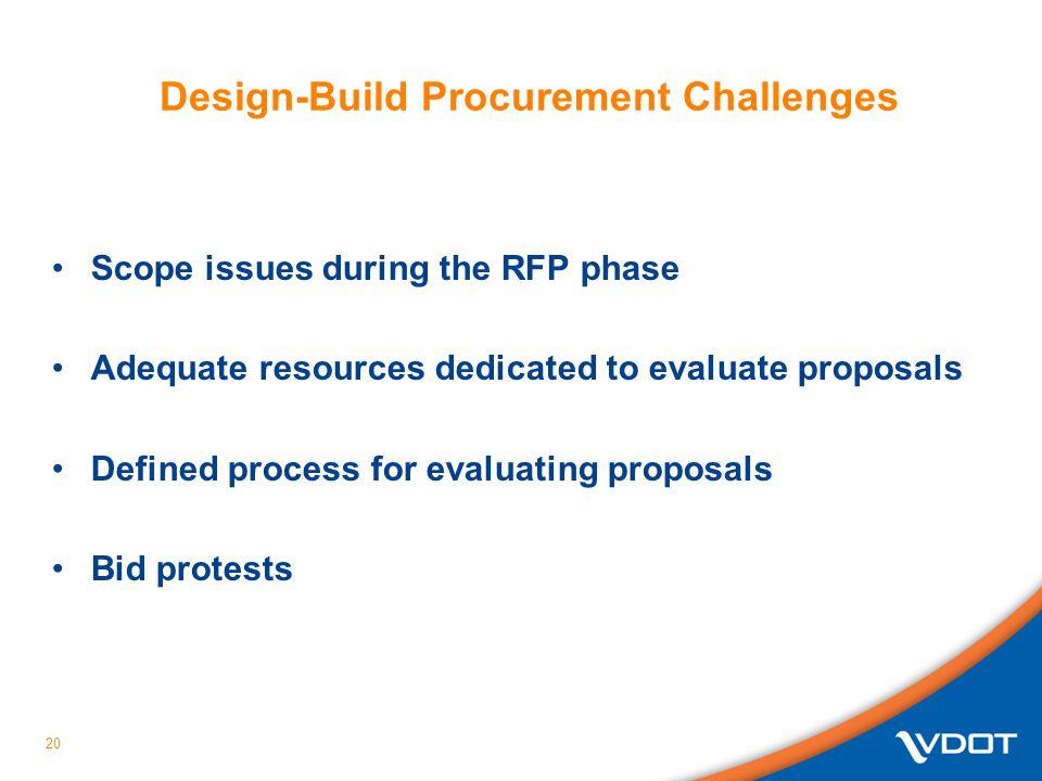 Design-Build Procurement Challenges