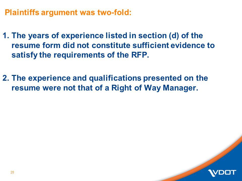 Plaintiffs argument was two-fold: