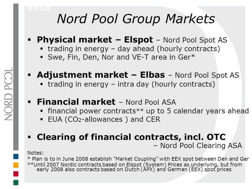 Nord Pool Group Markets