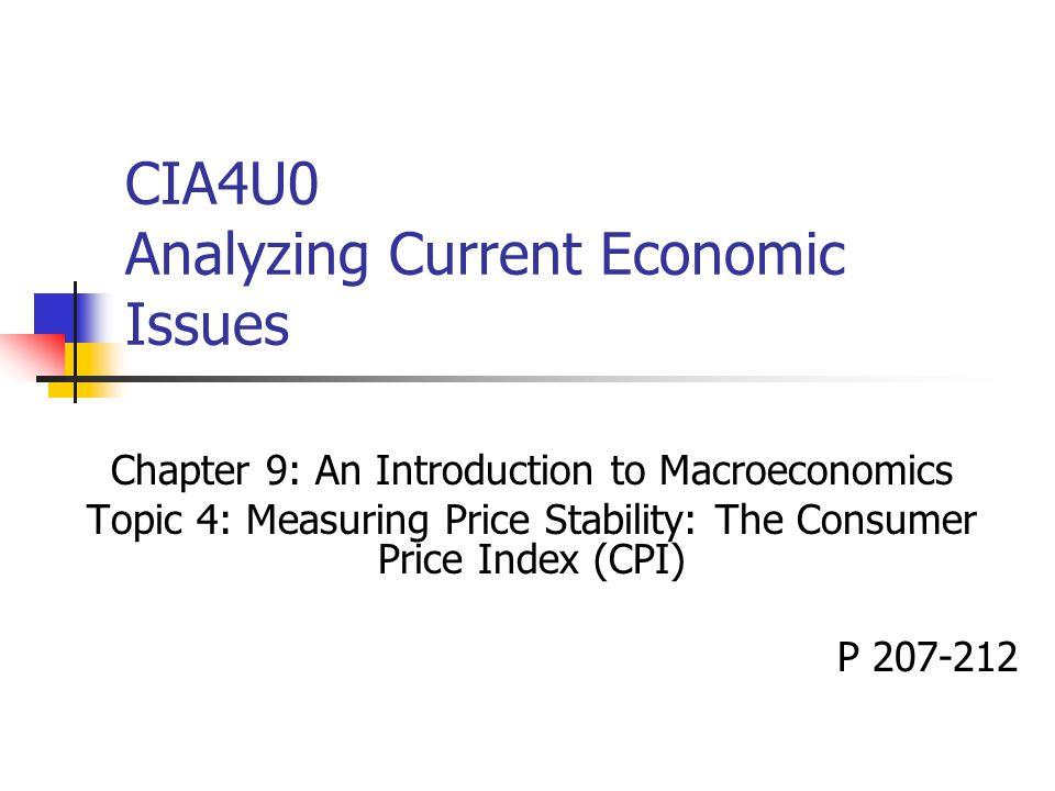 CIA4U0 Analyzing Current Economic Issues