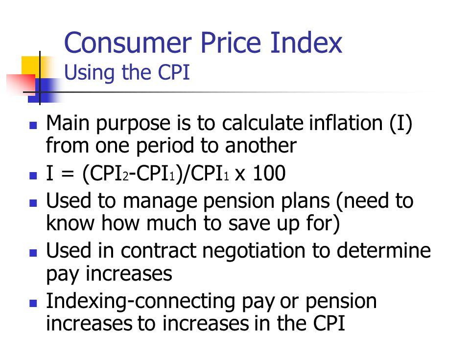 Consumer Price Index Using the CPI