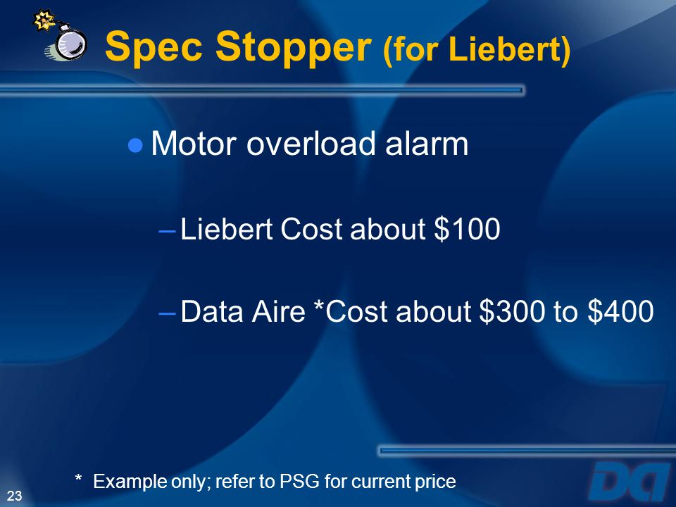 Spec Stopper (for Liebert)