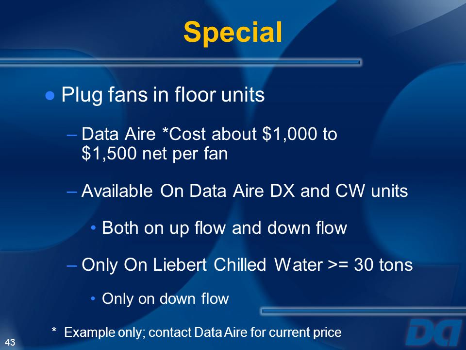 Special Plug fans in floor units