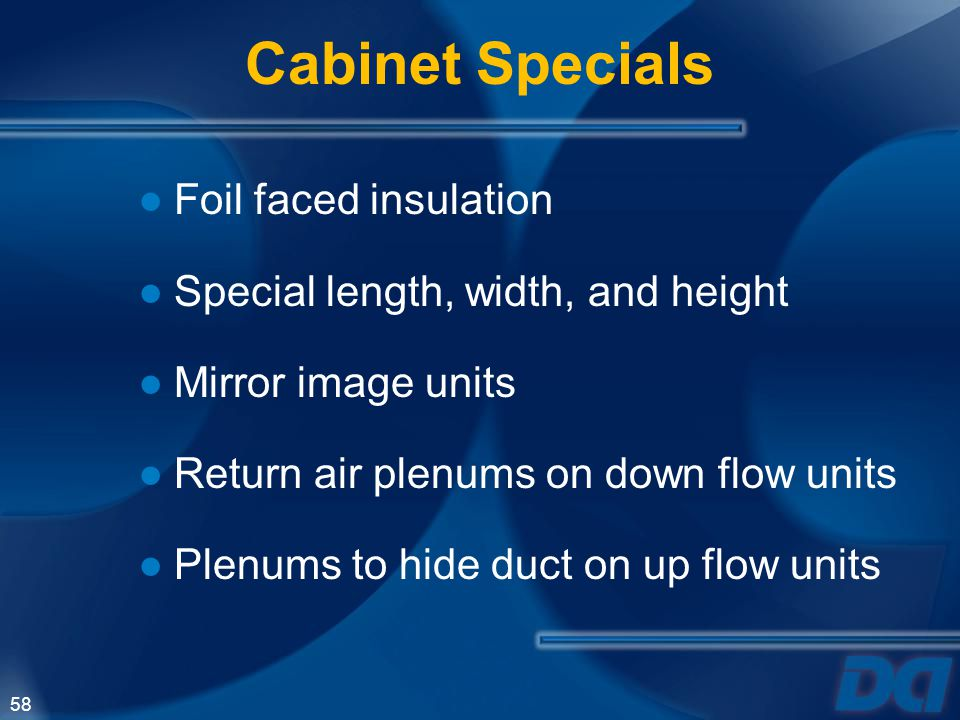 Cabinet Specials Foil faced insulation