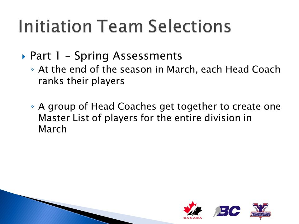 Initiation Team Selections
