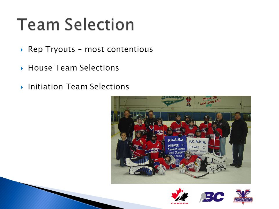 Team Selection Rep Tryouts – most contentious House Team Selections