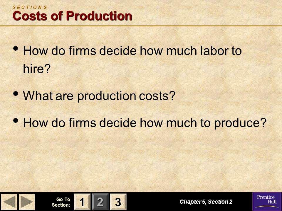 S E C T I O N 2 Costs of Production