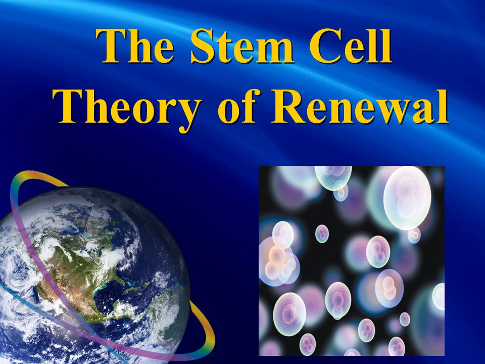 The Stem Cell Theory of Renewal