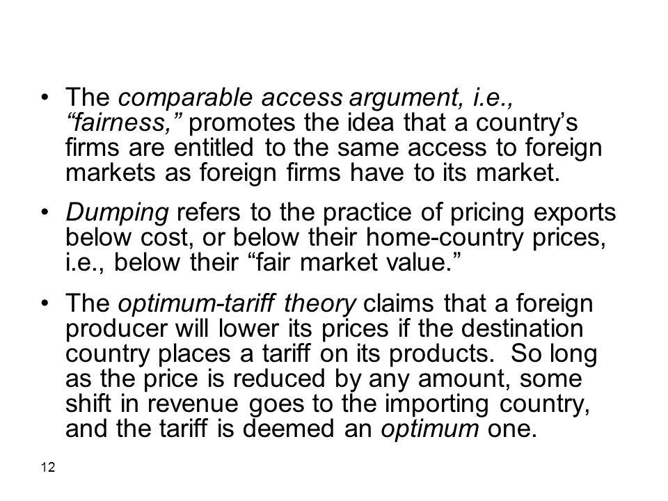 The comparable access argument, i. e