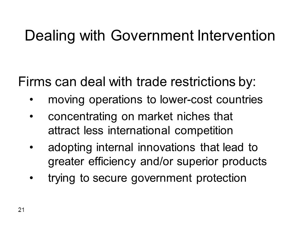 Dealing with Government Intervention